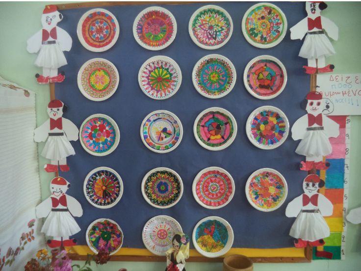 ...Το Νηπιαγωγείο μ' αρέσει πιο πολύ.: Παραδοσιακά πιάτα με mandala . Ιδέα από την Ελένη Γουβεράκη.