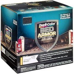 Bed Armor Kit, 1 Gallon Dupli-Color Bed Armor DIY Truck Bed Liner with Kevlar DUPBAK2010