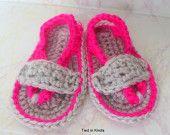 Crochet Baby Flip Flops - Baby Girl Flip Flops - Baby Boy Flip Flops - Crochet Baby Sandals - Summer Baby Sandals - Baby Girl Shoes - - pinned by pin4etsy.com