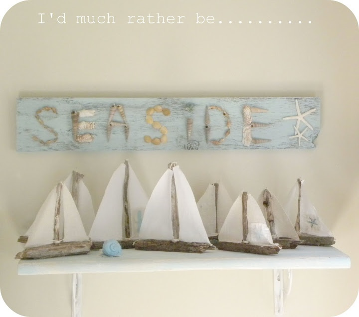 gotta make some of these driftwood boats love the sign too