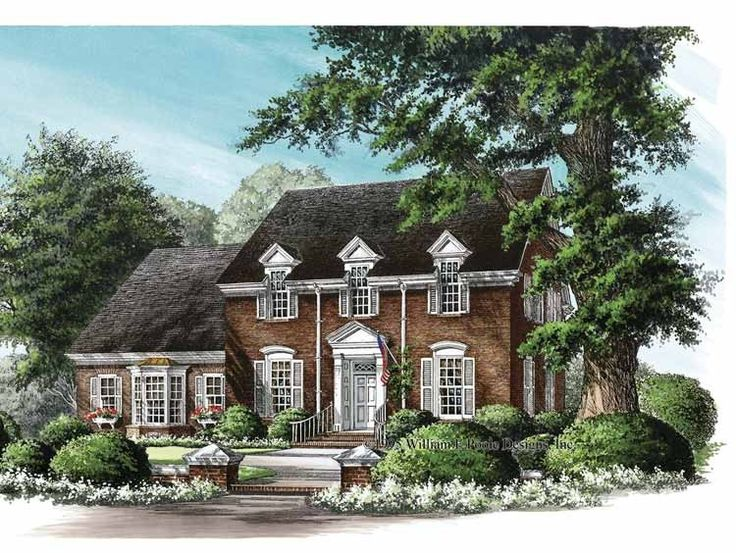 Including federal colonial house plans home design and style for Federal home plans