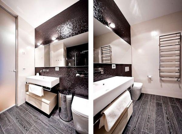 Badezimmer Schwarz-Weiß