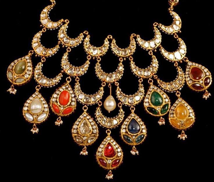 .kundan & colour stone set