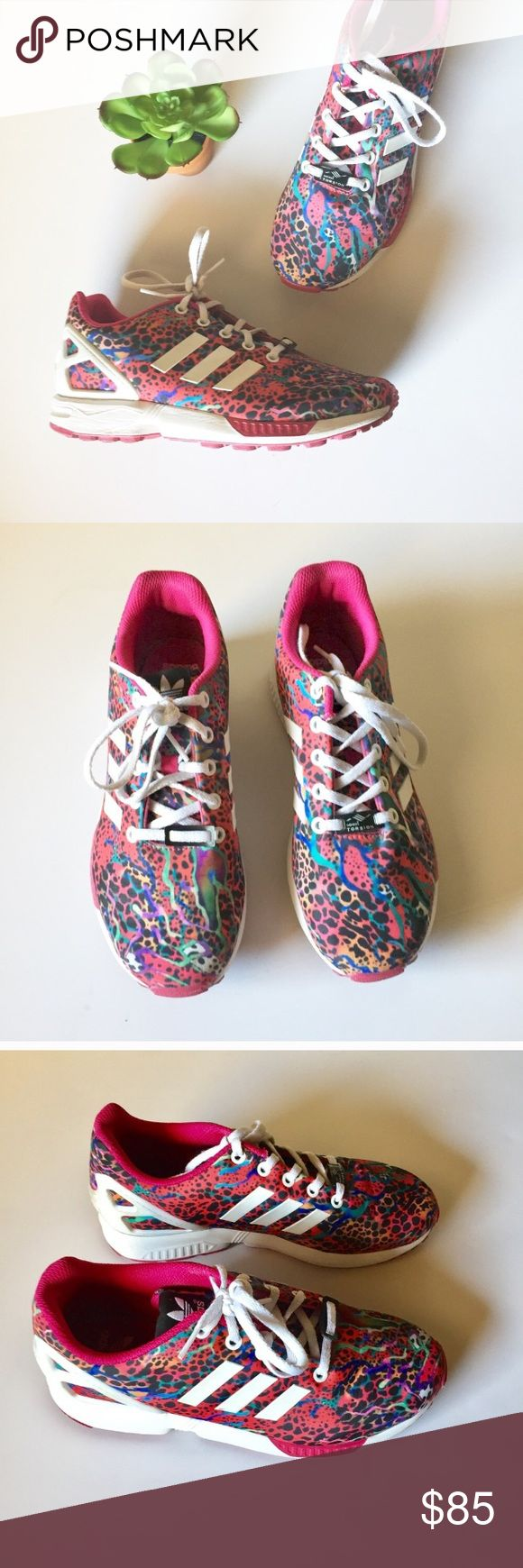 Pink TORSION ZX FLUX PINK ADIDAS TORSION ZX FLUX Listed a 6. FITS A WOMEN'S SIZE 8!!! Great Condition. Make an offer. adidas Shoes
