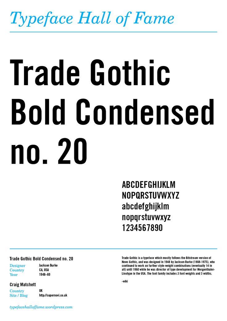 Trade Gothic Bold Condensed