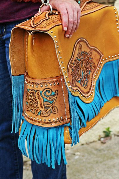 Love colors - leather bag with fringe