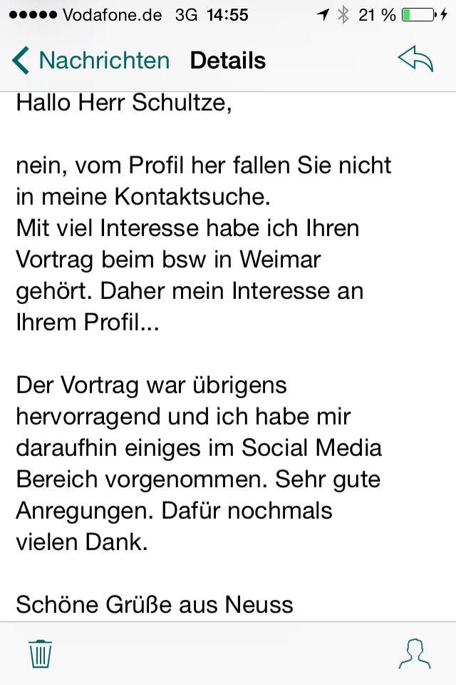 Vortrag Social Media in Weimar kam sehr gut an. Das freut mich