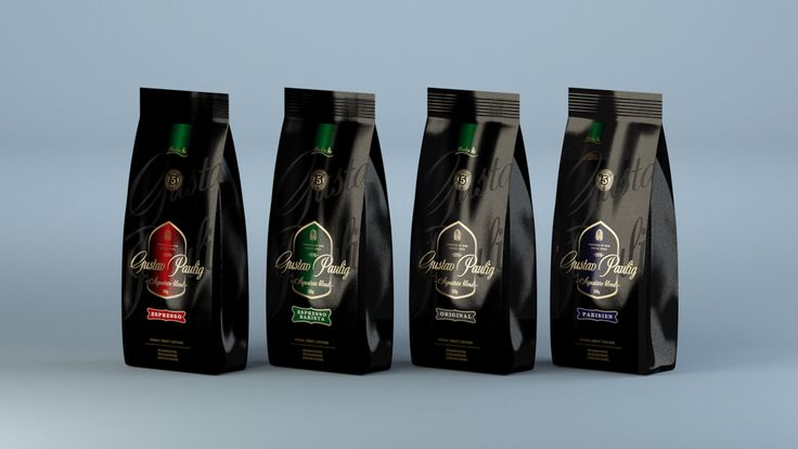 Package design concept for Gustav Paulig Coffee (Unpublished/2004)