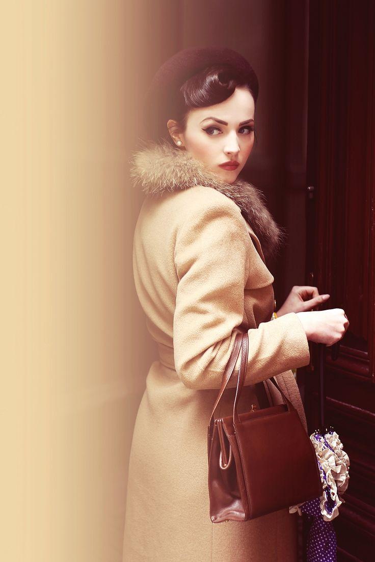 Beautiful vintage coat found and worn by Idda van Munster