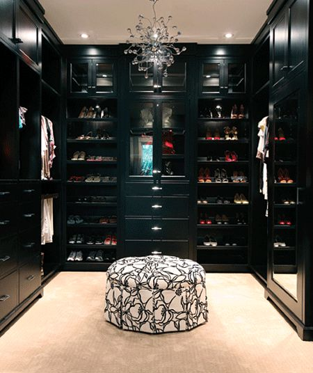 If black is your color and fancy is your style, then you'll love this closet…