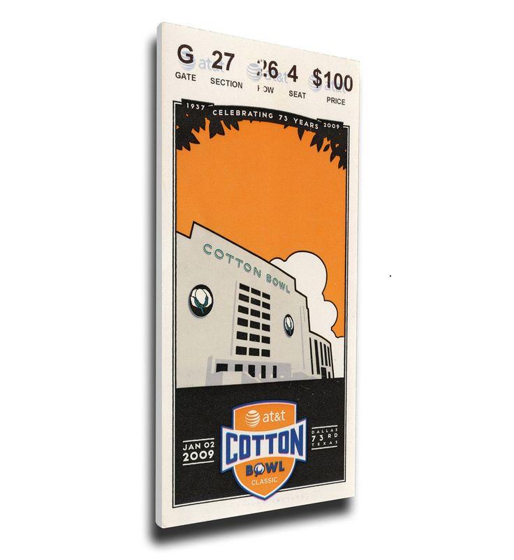 Ole Miss Rebels Wall Art - 2009 Cotton Bowl Canvas Mega Ticket