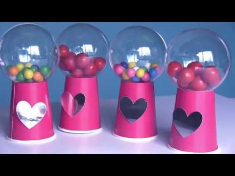 DIY Mini Gumball Machines For Valentines Day Gifts