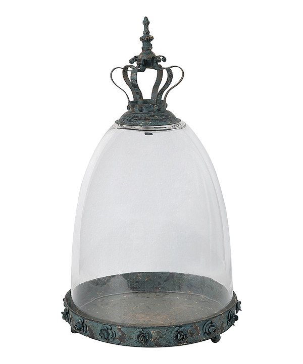 Look at this Rosalina Glass-Cloche Decorative Tray on #zulily today!