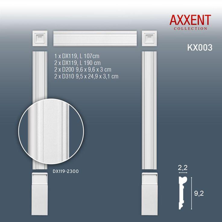 Contorno porte set di modanature Orac Decor KX003 AXXENT