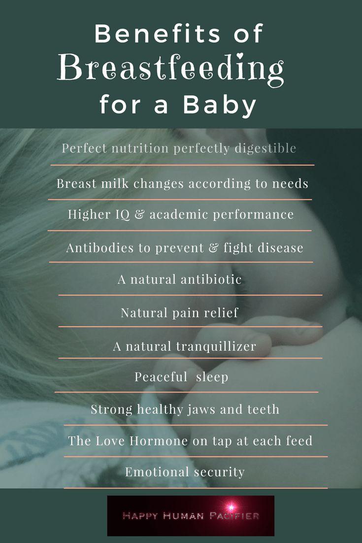 Benefits of Breastfeeding for a Baby happyhumanpacifier.com