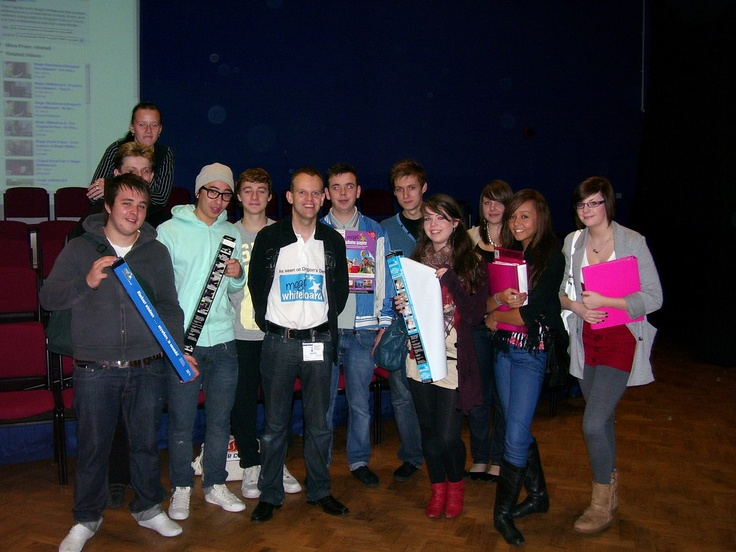 Neil doing a talk at Worcester Sixth Form College