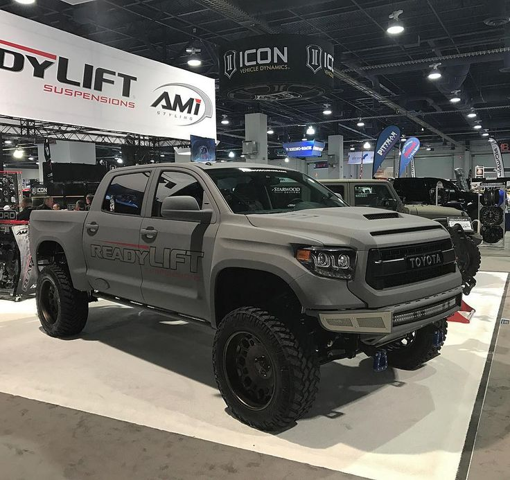 Starwood Custom Toyota Tundra in @readylift booth @semashow '16. #starwoodmotors #sema2016
