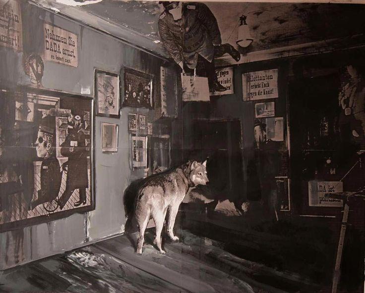 Adrian Ghenie, Dada is Dead, 2009, acrylic and collage on paper, 42 x 52 cm © Nicodim Gallery