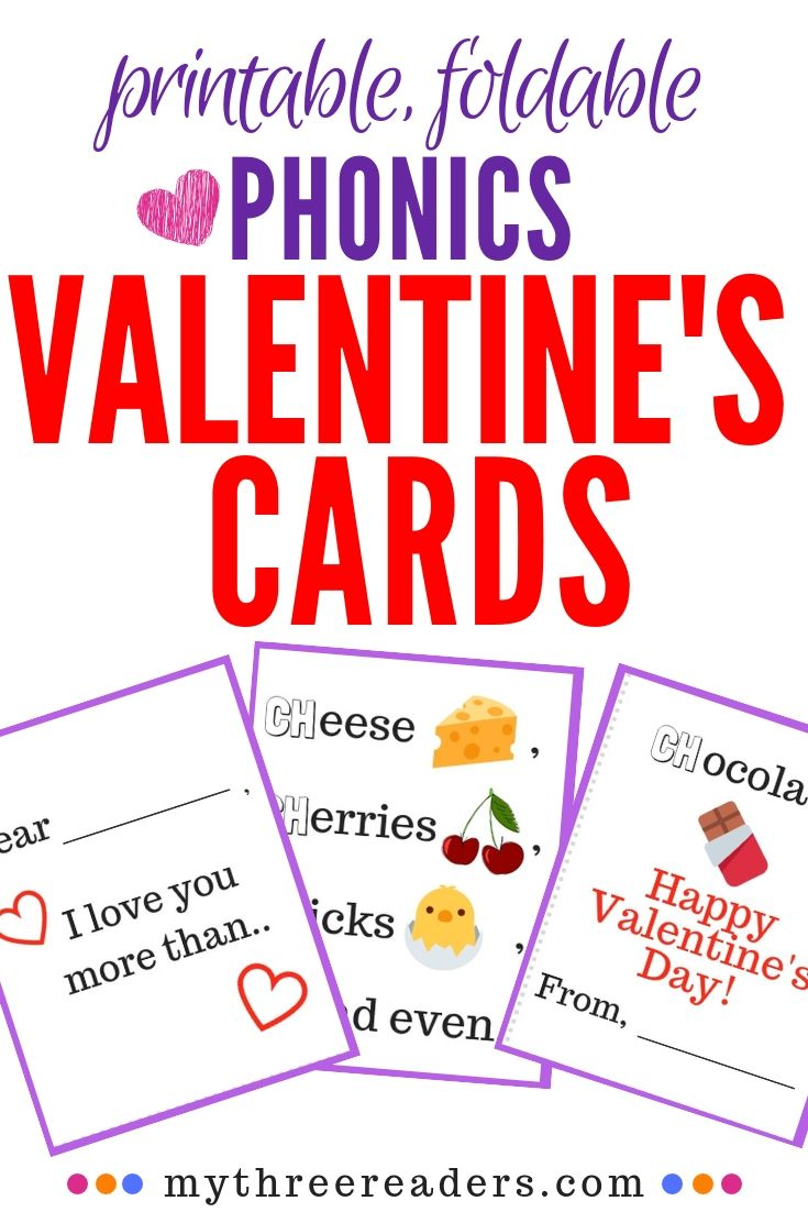 Sweet Free Printable Valentine S Day Cards That Teach Phonics