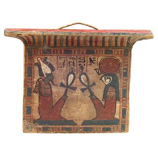 Pectoral with seated Horus and Osiris