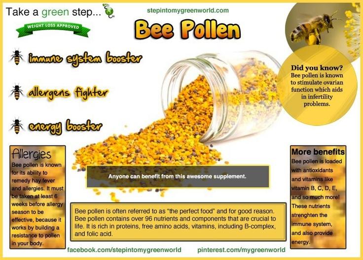 bee pollen benefits | Health | Pinterest
