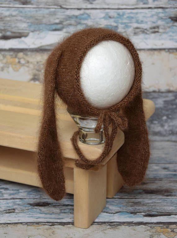 Newborn bunny hat and pants Newborn Bunny outfitAngora bunny