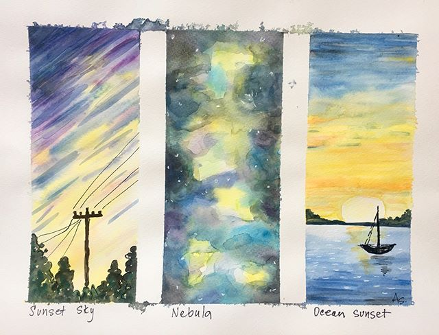 My Adults Explored Watercolor Techniques With This Trilogy Of