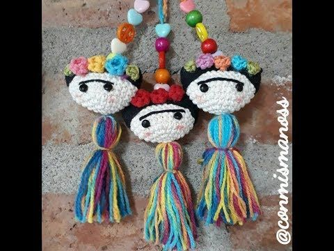 Frida Kahlo amigurumi/ marcapáginas crochet - YouTube