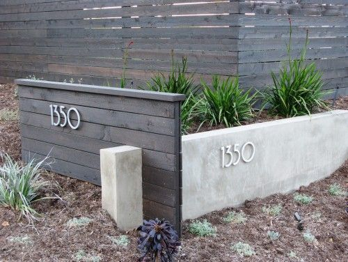 House number landscaping