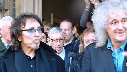 BLACK SABBATH QUEEN Legends Attend COZY POWELL Plaque Unveiling (Video) BLACK SABBATH QUEEN Legends Attend COZY POWELL Plaque Unveiling (Video)        According to the  Gloucestershire Echo   BLACK SABBATH 's  Tony Iommi  and  QUEEN 's  Brian May  attended the unveiling ceremony for a plaque honoring legendary drummer  Cozy Powell  ( RAINBOW   MICHAEL SCHENKER GROUP   BLACK SABBATH   WHITESNAKE   YNGWIE MALMSTEEN ) on January 7 in Cirencester England. Also appearing at the VIP reception at…