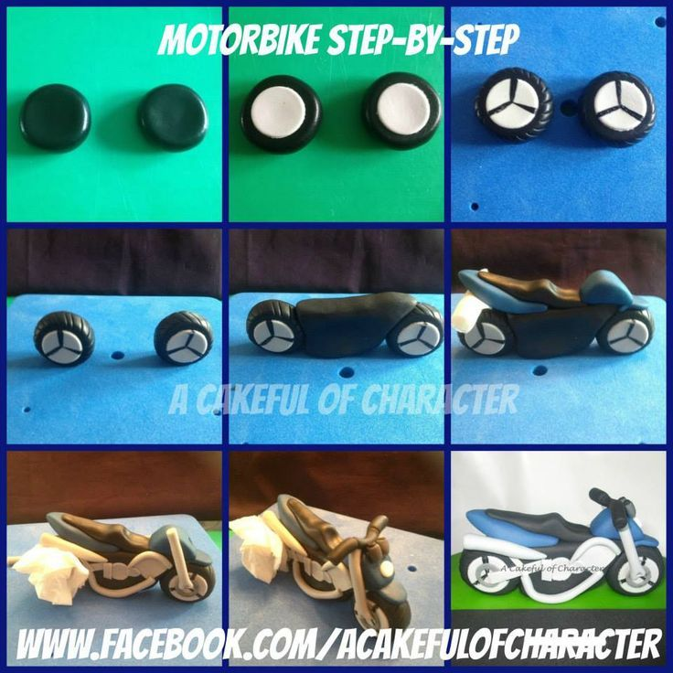Tuto moto projets essayer pinterest for Motorbike template for cake