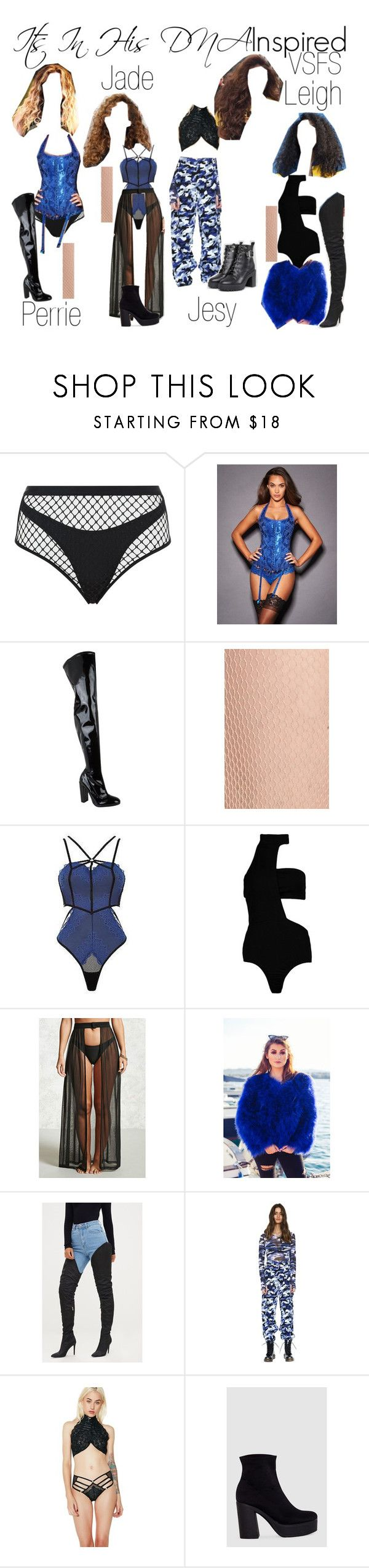 """""""Little Mix Victoria's Secret Fashion Show Inspired"""" by katiehorror ❤ liked on Polyvore featuring Agent Provocateur, Carvela Kurt Geiger, Nordstrom, Ann Summers, Boohoo, Forever 21 and ASOS"""