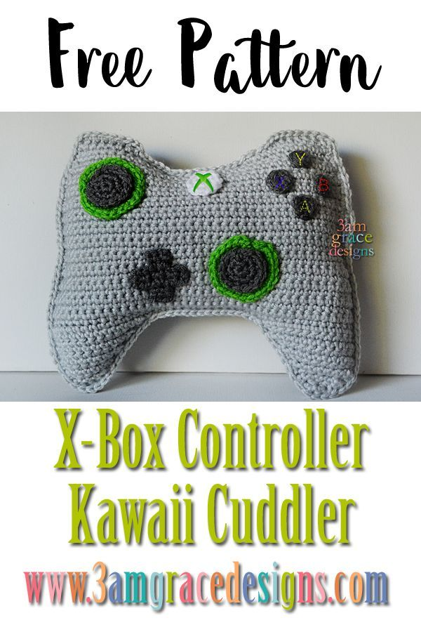 X Box Controller Kawaii Cuddler Free Crochet Pattern Kawaii