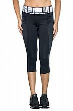 Black Sports Pant with Print Waistband