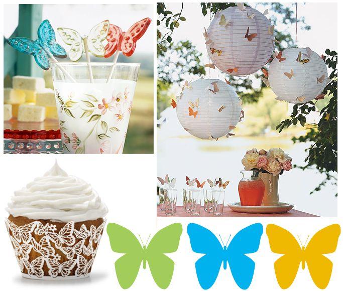 Decoración de Fiestas Infantiles de Mariposas : Fiestas Infantiles Decoracion