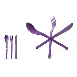 JOIN Cutlery Purple Set Of 4, now featured on Fab.