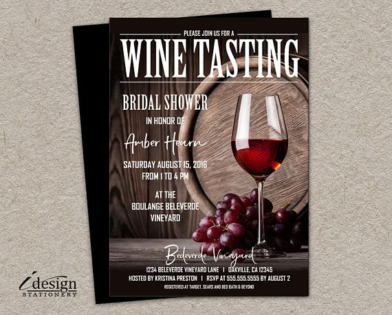 Wine Tasting Bridal Shower Invitation Printable Wine Party Invitations Prin Wine Tasting Bridal Shower Invitations Wine Party Invitations Wine Theme Shower