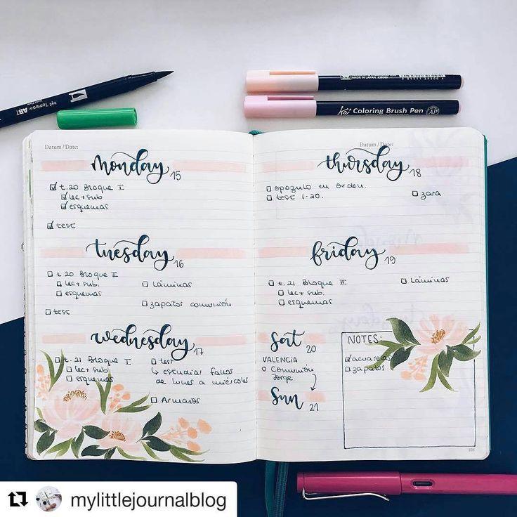 "2,241 mentions J'aime, 9 commentaires - Bullet Journal Inspire  (@bujoinspire) sur Instagram: ""#Repost @mylittlejournalblog (@get_repost) ・・・ Admiro a la gente que es capaz de estudiarse (o…"""