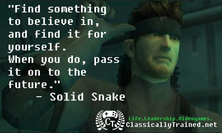 Video Game Quotes: Metal Gear Solid 2 on Legacy - ClassicallyTrained.net