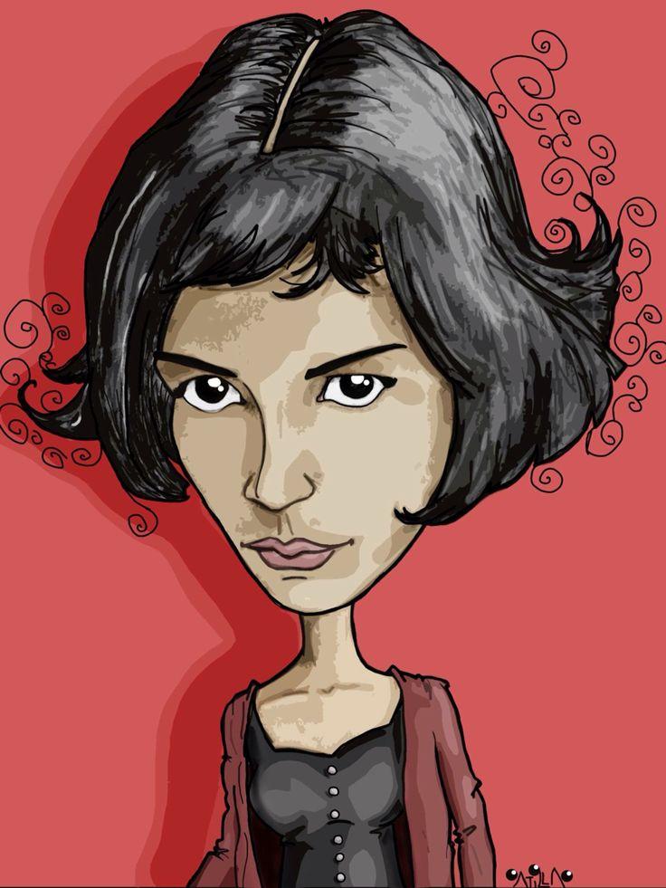 Amelie  #caricature #cartoon #illustration #drawing