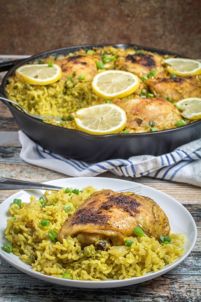 recipe with yellow rice and chicken