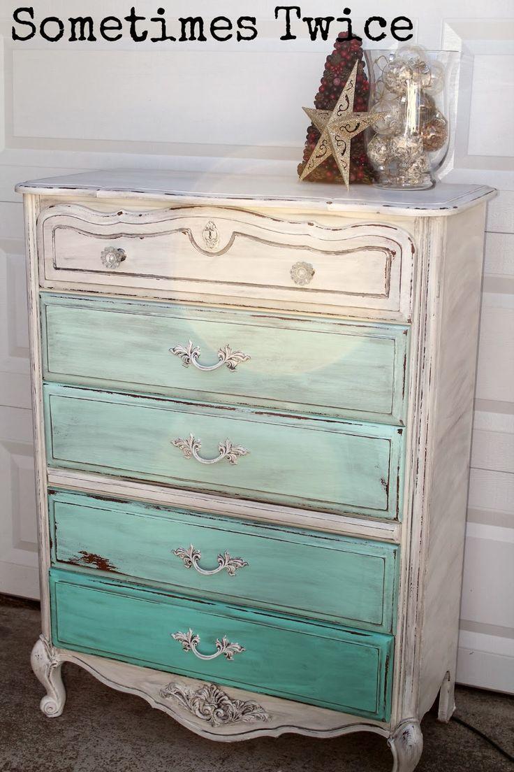Sometimes Twice...: Ombre Dresser