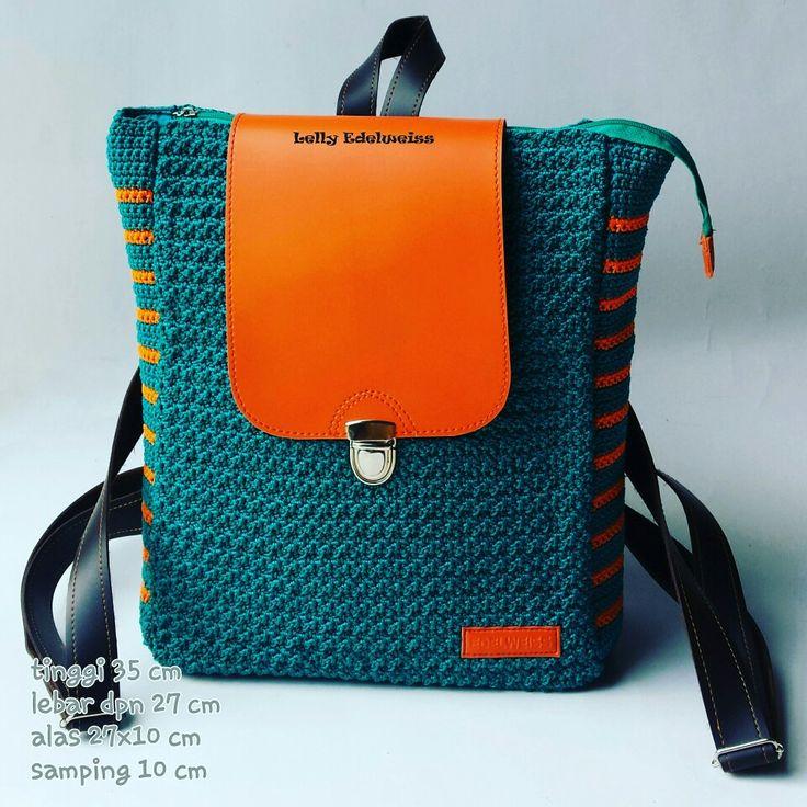 SUZETTE Crochet Backpack Handmade by Edelweiss