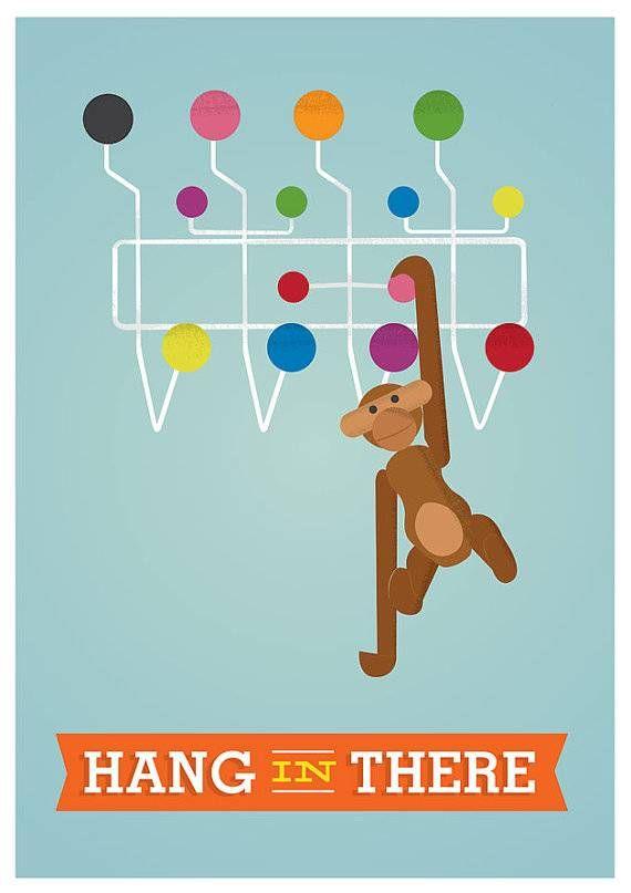 Hang in there!  Deze poster met vrolijke kleuren is weer subliem vormgegeven door Restyle!