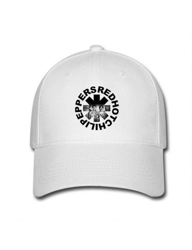 White Red Hot Chili Peppers Logo Hot vente Casquettes de baseball