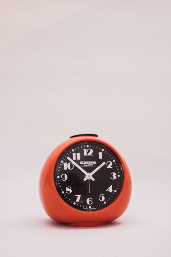 Blessing vintage winding alarm clock West Germany mid century 60s, space age