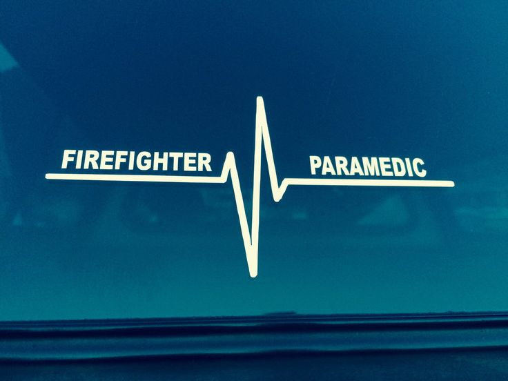 A personal favorite from my Etsy shop https://www.etsy.com/listing/244049255/firefighter-paramedic-vinyl-decal