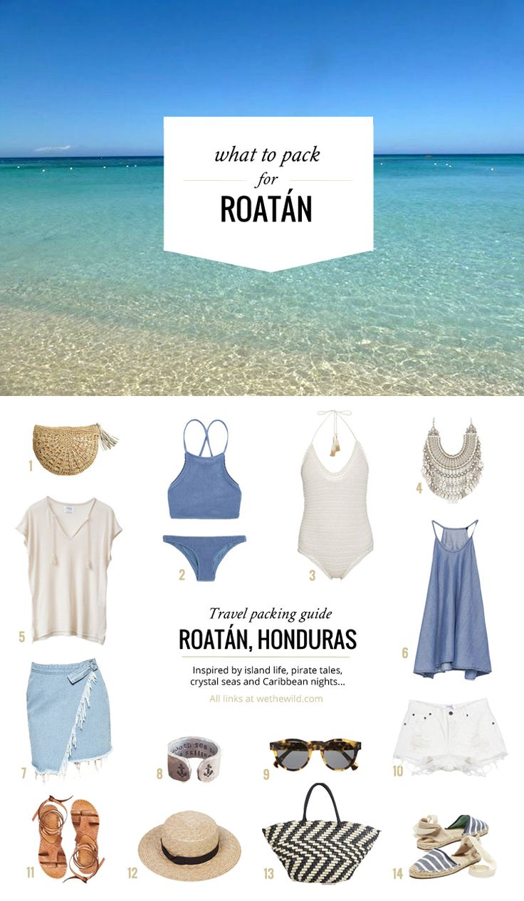 What to pack: Roatan, Honduras • Travel packing guides created by wethewild.com