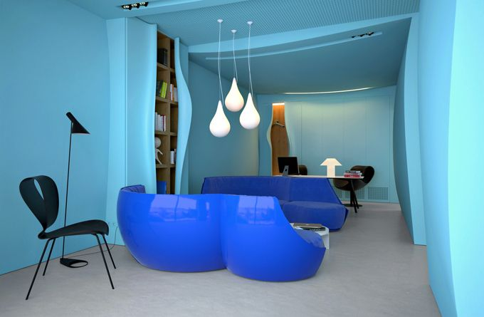 blue lagoon: Interior Design, Azure Office, Blue, Offices, Interiors, Office Design