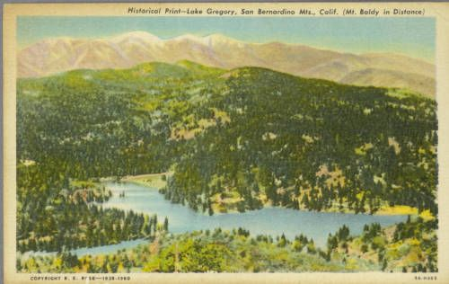 Page 1 :: Historical Print--Lake Gregory, San Bernardino Mts., Calif. (Mt. Baldy in Distance) :: Historic Postcards. http://digitallibrary.usc.edu/cdm/ref/collection/p15799coll77/id/322
